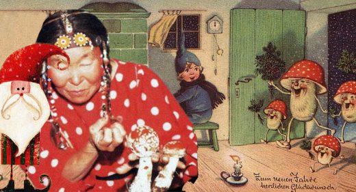 Kalėdų senelis - musmirės