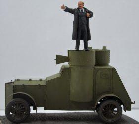 Leninas ant šarvuočio