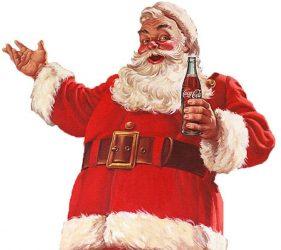 Kalėdų senelis geria kokakolą